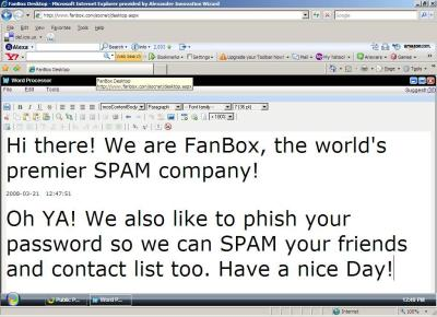 FanBox is SPAM