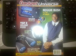 Reggie Bush is a Fan of Gadgets